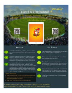 Score Pad, a cricket scoring app.